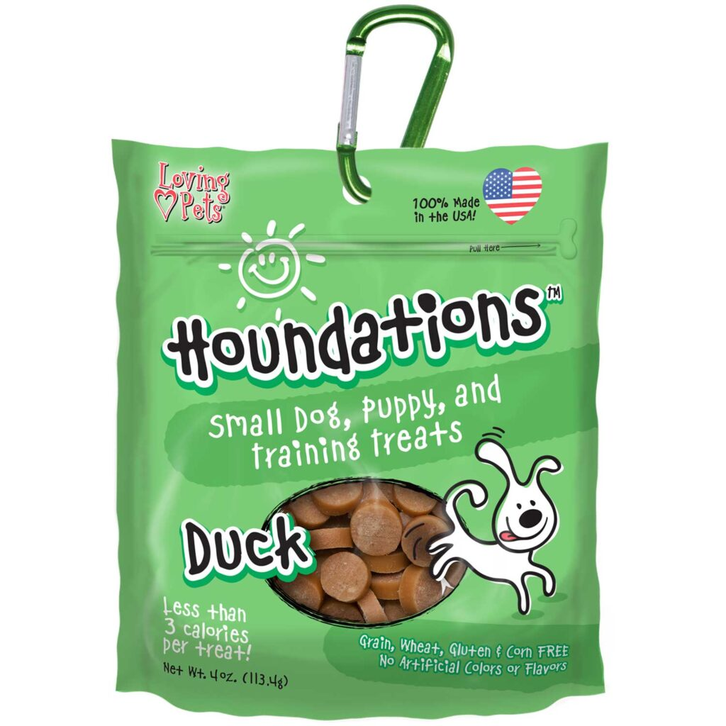An image of Loving Pets - Houndations Training Treats - Duck