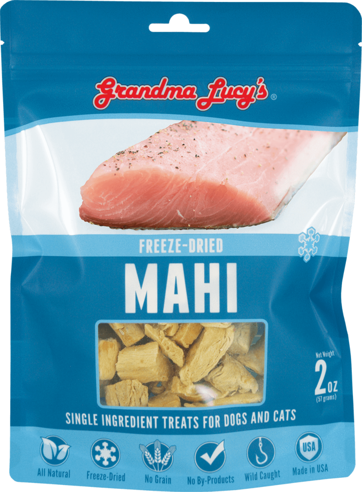 An image of Grandma Lucy's - SINGLES MAHI Pet Treats - 2oz