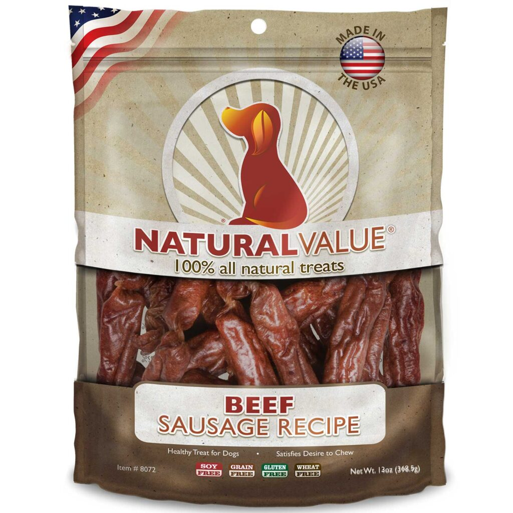 An image of Loving Pets - Natural Value Soft Chew Beef Sausages