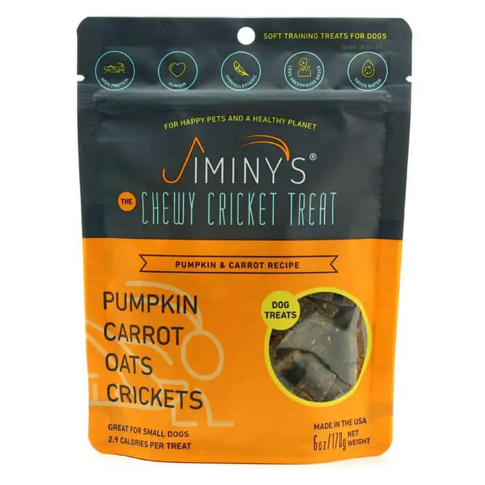 An image of Jiminy's - Chewy Cricket Treat - Pumpkin & Carrot