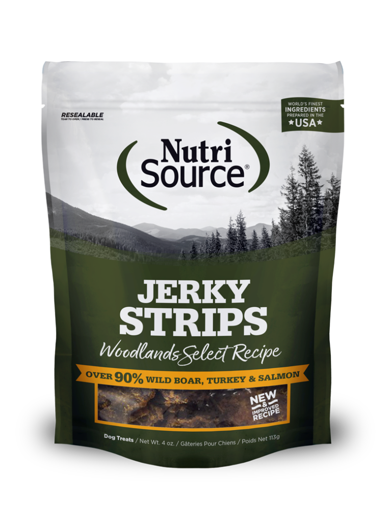 An image of Tuffy's Pet Foods – NutriSource – Woodlands Select Jerky Strips (8/4Oz)