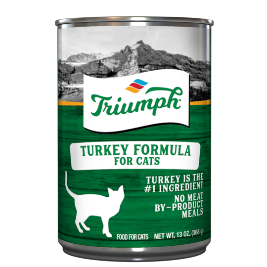 An image of Sunshine Mills, Inc. - Triumph Turkey Formula for Cats Canned Cat Food (12 units box) 13.2oz.