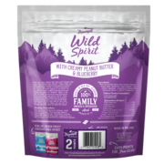 An image of Sunshine Mills, Inc. - Triumph Wild Spirit Slow Baked Small Batch With Creamy Peanut Butter and Blueberry Biscuits Dog Treats 16oz.