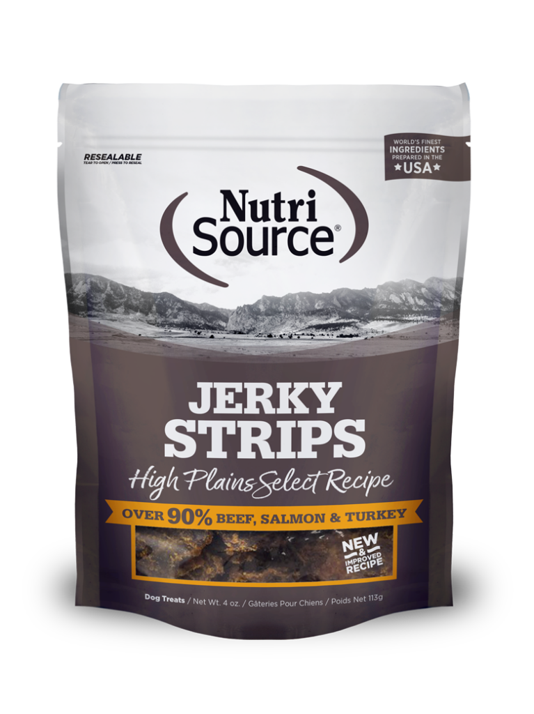 An image of Tuffy's Pet Foods – NutriSource – High Plains Jerky Strips (8/4Oz)