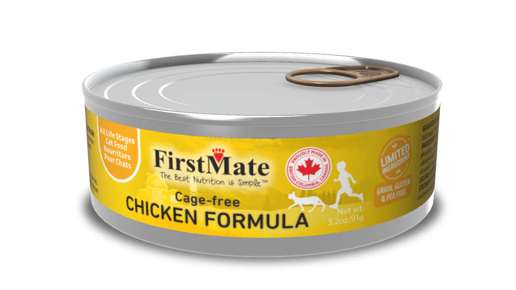 An image of FirstMate Pet Foods - FirstMate Limited Ingredient Cage-Free Chicken Can Cat 3.2oz