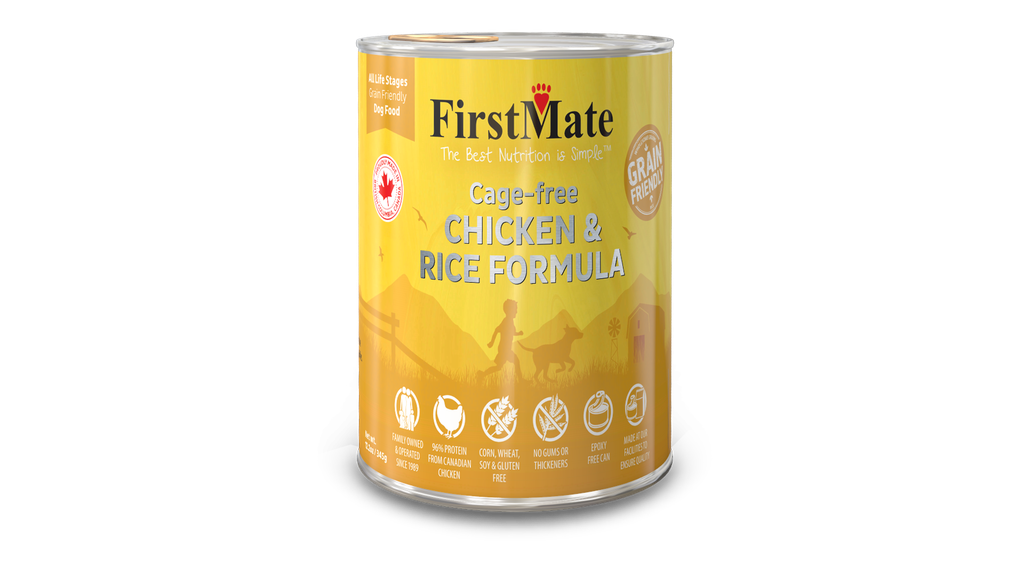 An image of FirstMate Pet Foods - FirstMate Grain Friendly Cage-Free Chicken with Rice Dog Food 12.2oz