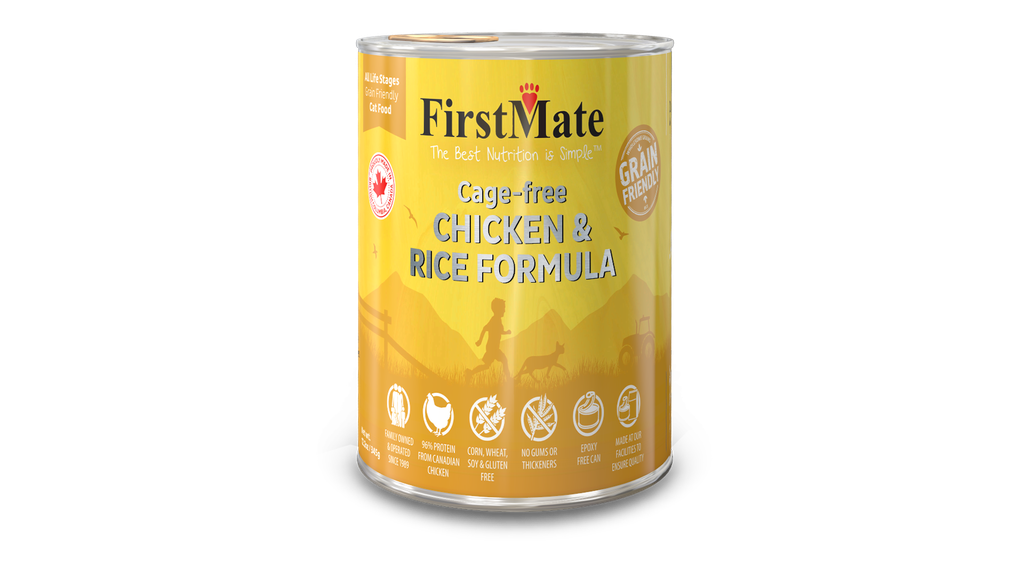 An image of FirstMate Pet Foods - *CASE 24* FirstMate Grain Friendly Cage-Free Chicken with Rice Cat Food 12.2oz