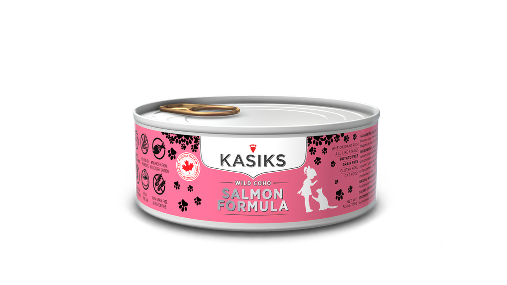 An image of FirstMate Pet Foods - Kasiks Wild Coho Salmon Formula Can CAT Food 5.5oz
