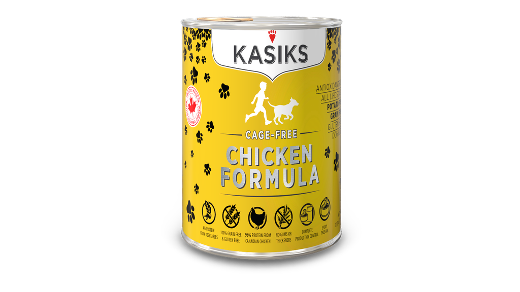 An image of FirstMate Pet Foods - *CASE 12* Kasiks Cage-Free Chicken Can DOG Food 12.2oz
