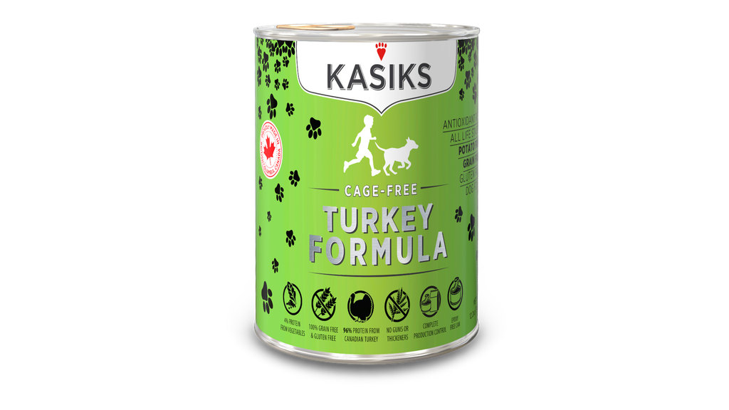 An image of FirstMate Pet Foods - *CASE 12* Kasiks Cage-Free Turkey Formula Can DOG Food 12.2oz
