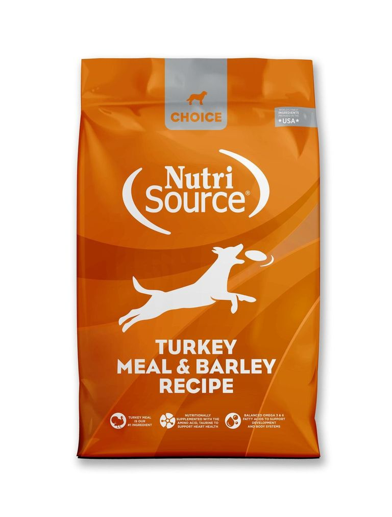 An image of Tuffy's Pet Foods - NutriSource Choice - Turkey Meal & Barley Dog Food (8 / 5 Lbs.)