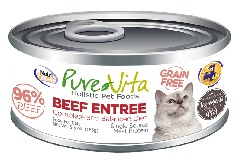An image of Tuffy's Pet Foods - PureVita - Beef & Beef Liver Grain Free Cat Food Cans (12 / 5.5 Oz.)