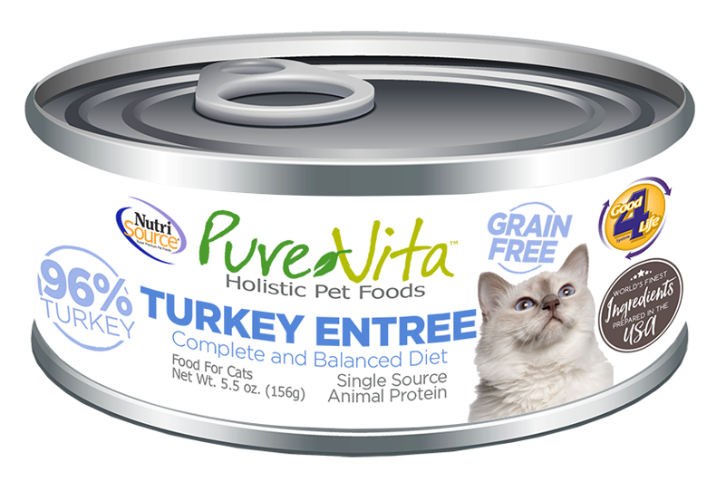 An image of Tuffy's Pet Foods - PureVita - Turkey & Turkey Liver Grain Free Cat Food Cans (12 / 5.5 Oz.)