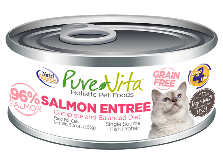 An image of Tuffy's Pet Foods - PureVita - Salmon Grain Free Cat Food Cans (12 / 5.5 Oz.)