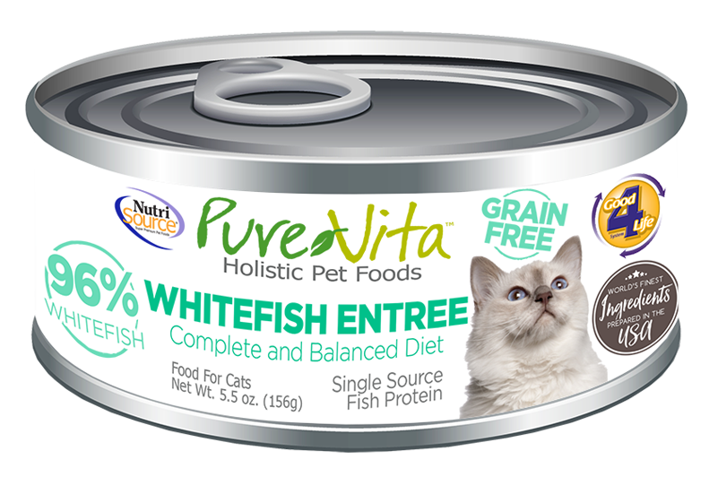 An image of Tuffy's Pet Foods - PureVita - Whitefish Grain Free Cat Food Cans (12 / 5.5 Oz.)