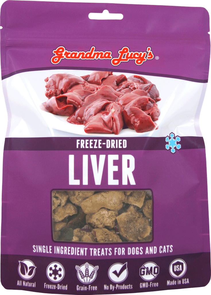 An image of Grandma Lucy's - SINGLES LIVER Pet Treats - 2.5oz