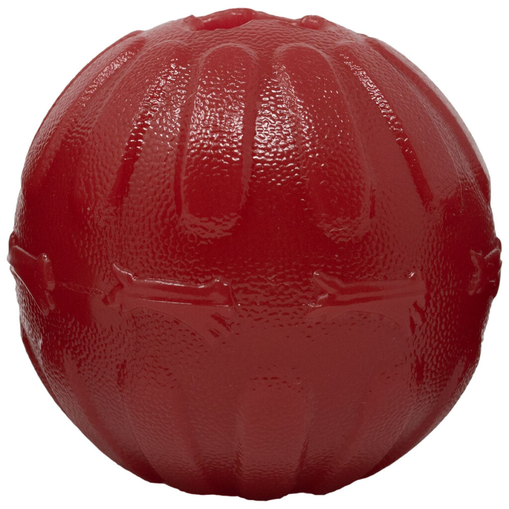 An image of Starmark Pet Products - Treat Dispensing Bacon Ball 3.25in