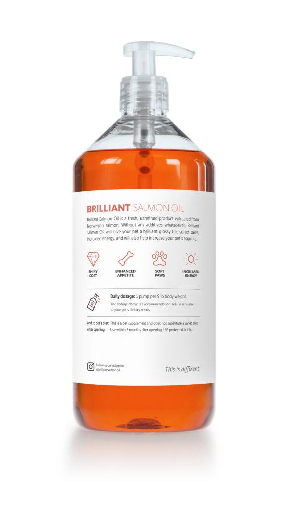 An image of Brilliant  Salmon Oil - Brilliant Salmon Oil 34 oz. bottle