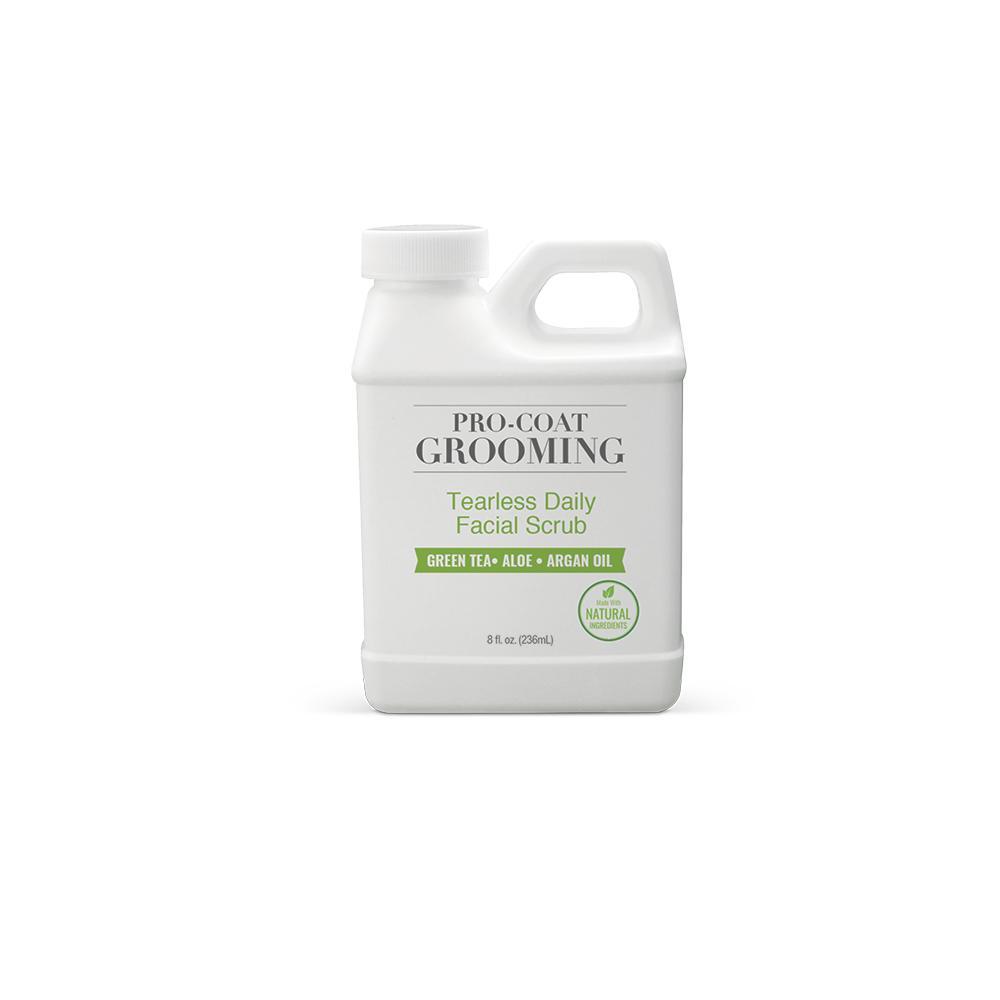 An image of Pure and Natural Pet® - Pro-Coat Tearless Daily Facial Scrub (Green Tea, Aloe & Argan Oil) - 8 Oz