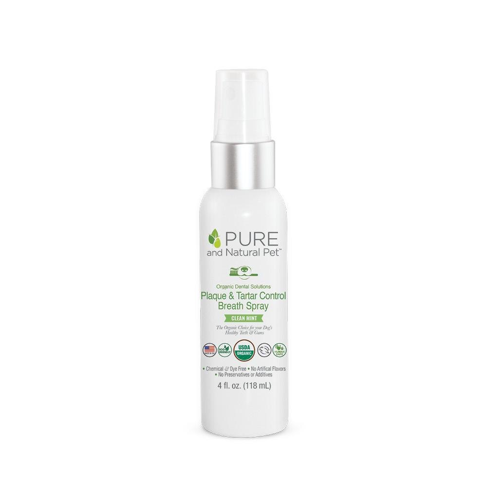 An image of Pure and Natural Pet® - Organic Dental Solutions Plaque & Tartar Control Breath Spray