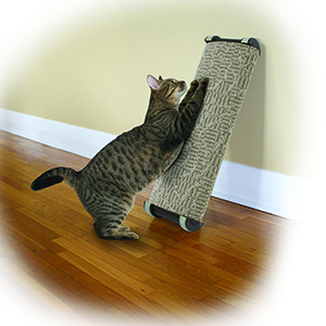 An image of Omega Paw Inc. – Wide Lean-it Scratch Post Medium