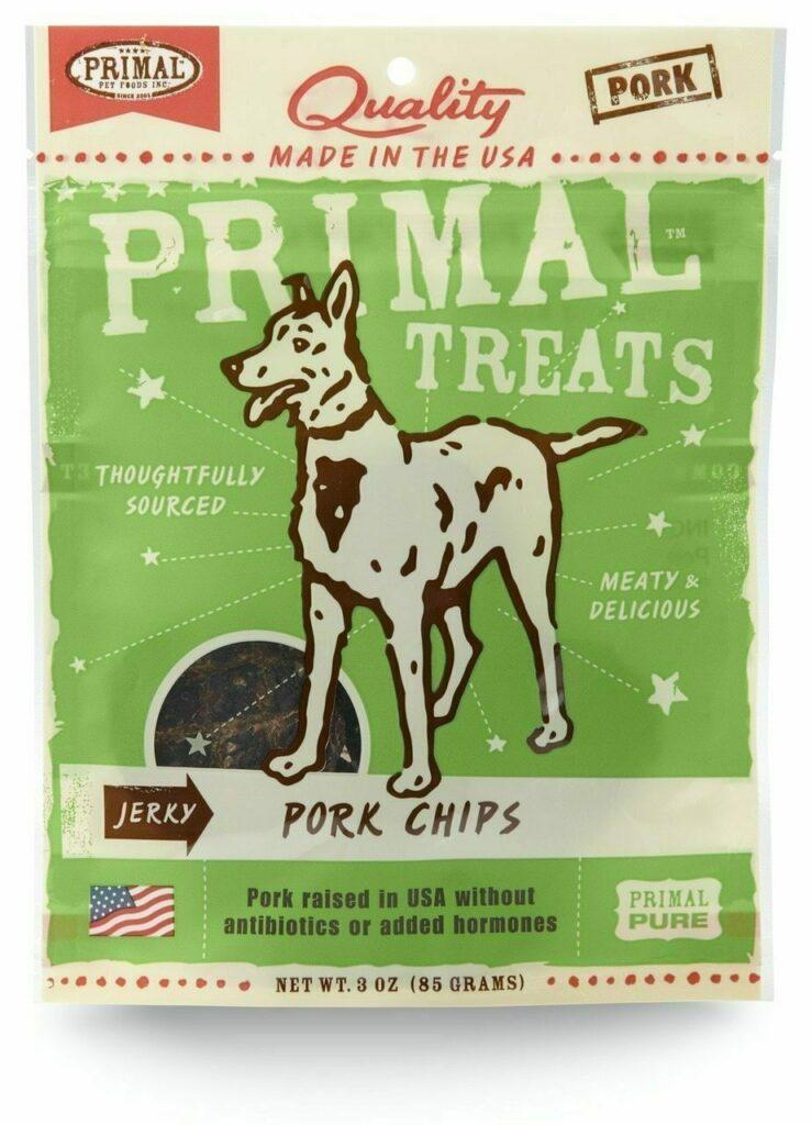 An image of Primal Pet Foods - 3oz Pork Chips