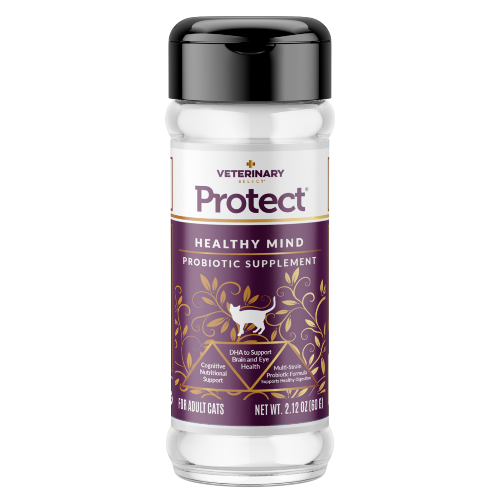 An image of Sunshine Mills, Inc. - Veterinary Select Protect Healthy Mind Probiotic Cat Supplement (12 units box) 2.12oz