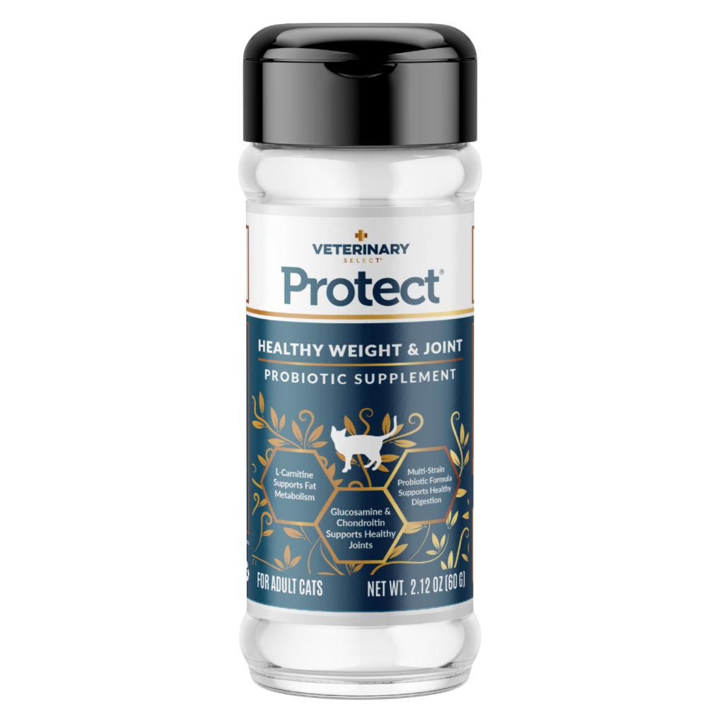 An image of Sunshine Mills, Inc. - Veterinary Select Protect Healthy Weight and Joint Probiotic Cat Supplement (12 units box) 2.12oz