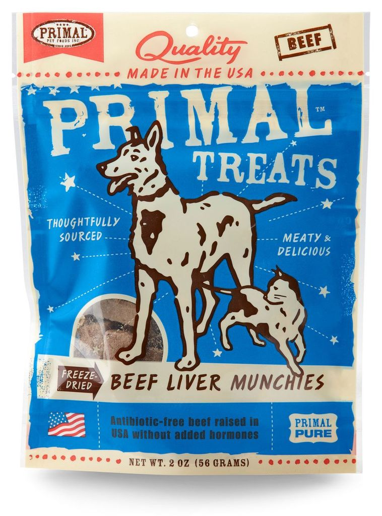 An image of Primal Pet Foods - 2oz Beef Liver Munchies