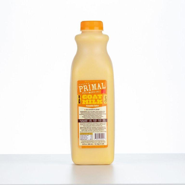 An image of Primal Pet Foods - 32oz Pumpkin Spice Raw Goat Milk (1 quart)