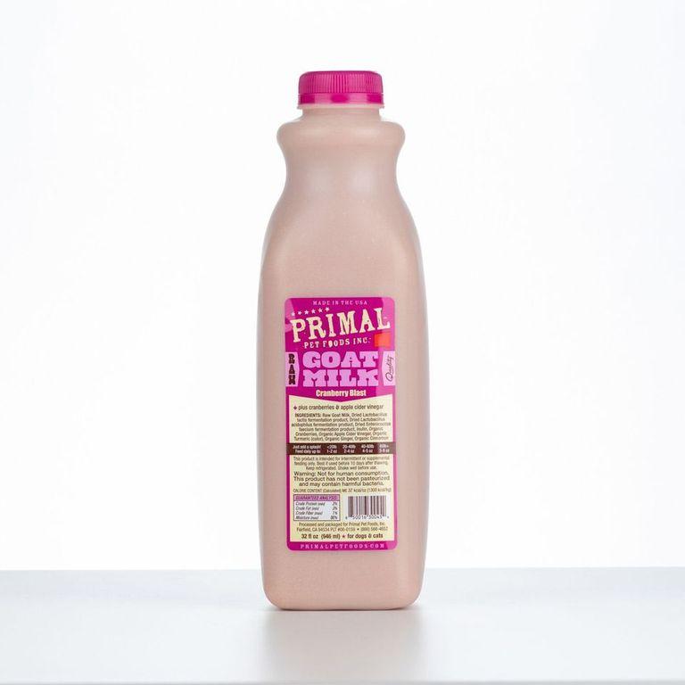 An image of Primal Pet Foods - 32oz Cranberry Blast Raw Goat Milk (1 quart)