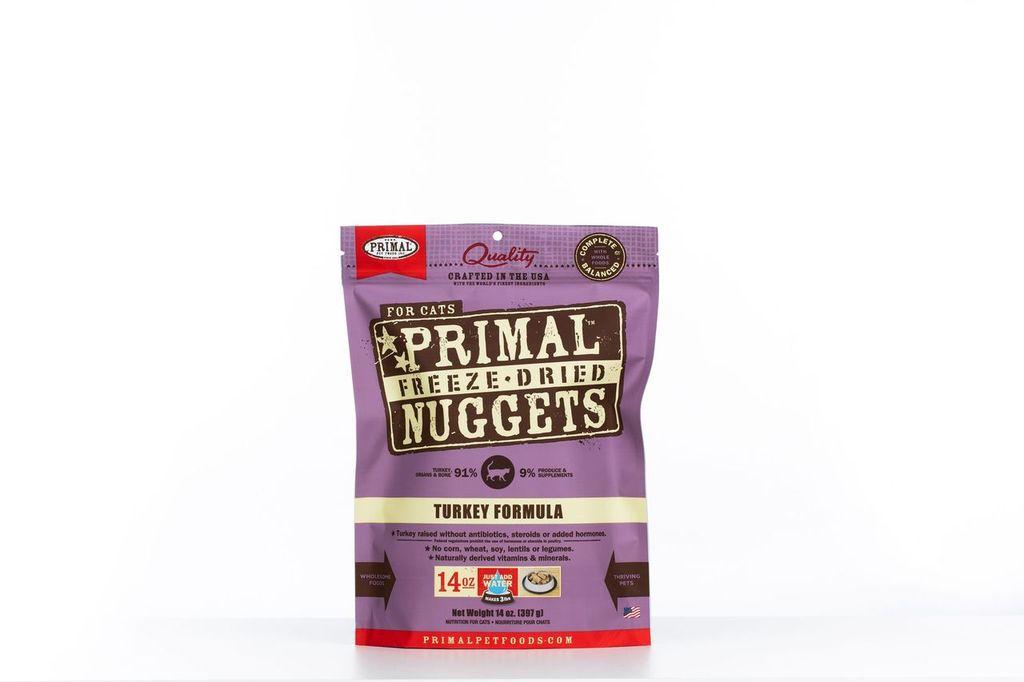 An image of Primal Pet Foods - 14oz Feline Turkey Formula Nuggets