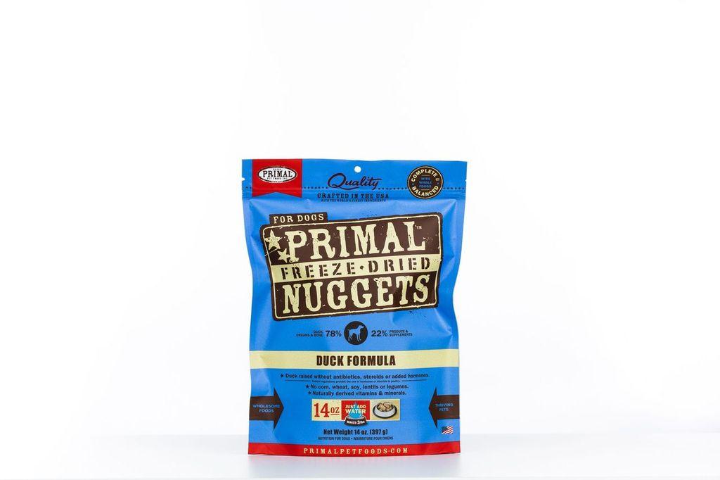 An image of Primal Pet Foods - 14oz Canine Duck Formula Nuggets
