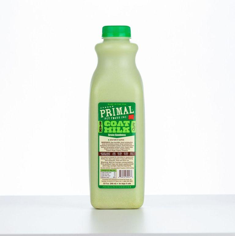 An image of Primal Pet Foods – 32oz Green Goodness Raw Goat Milk (1 quart)