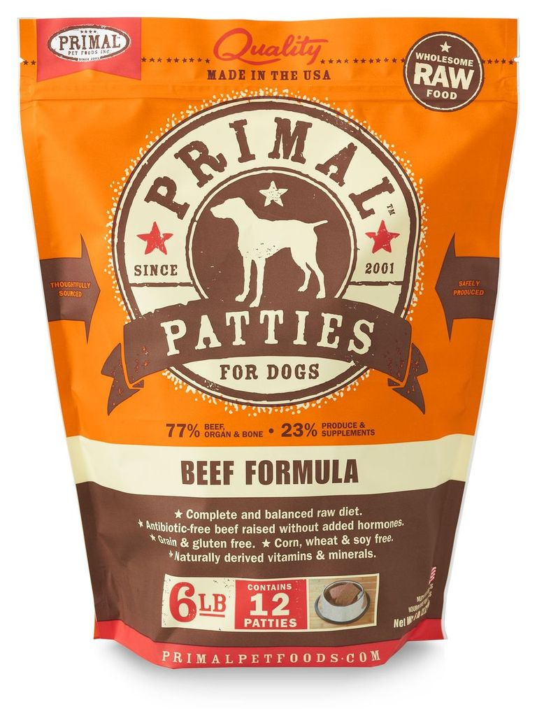 An image of Primal Pet Foods - 6lb Canine Beef Formula Patties