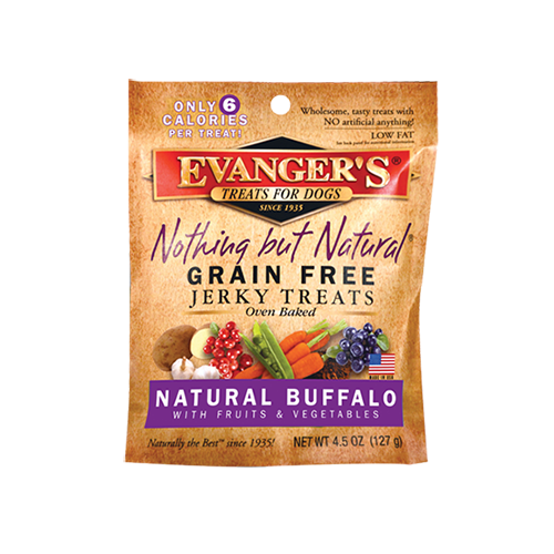 An image of Evangers Pet Food - Nothing But Natural Buffalo Jerky Treats for Dogs