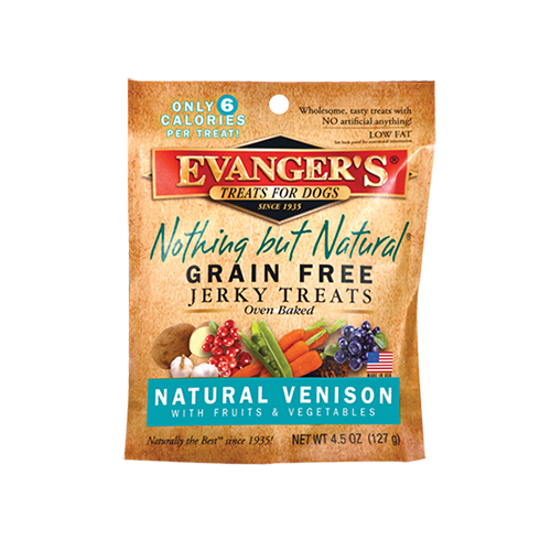 An image of Evangers Pet Food - Nothing But Natural Venison Jerky Treats for Dogs