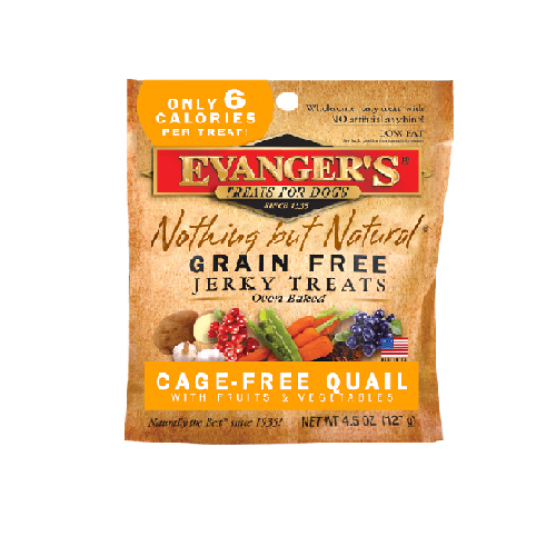 An image of Evangers Pet Food – Nothing But Natural Quail Jerky Treats for Dogs