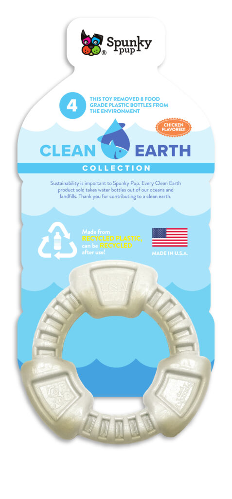 An image of Spunky Pup Dog Toys - Clean Earth Recycled Ring