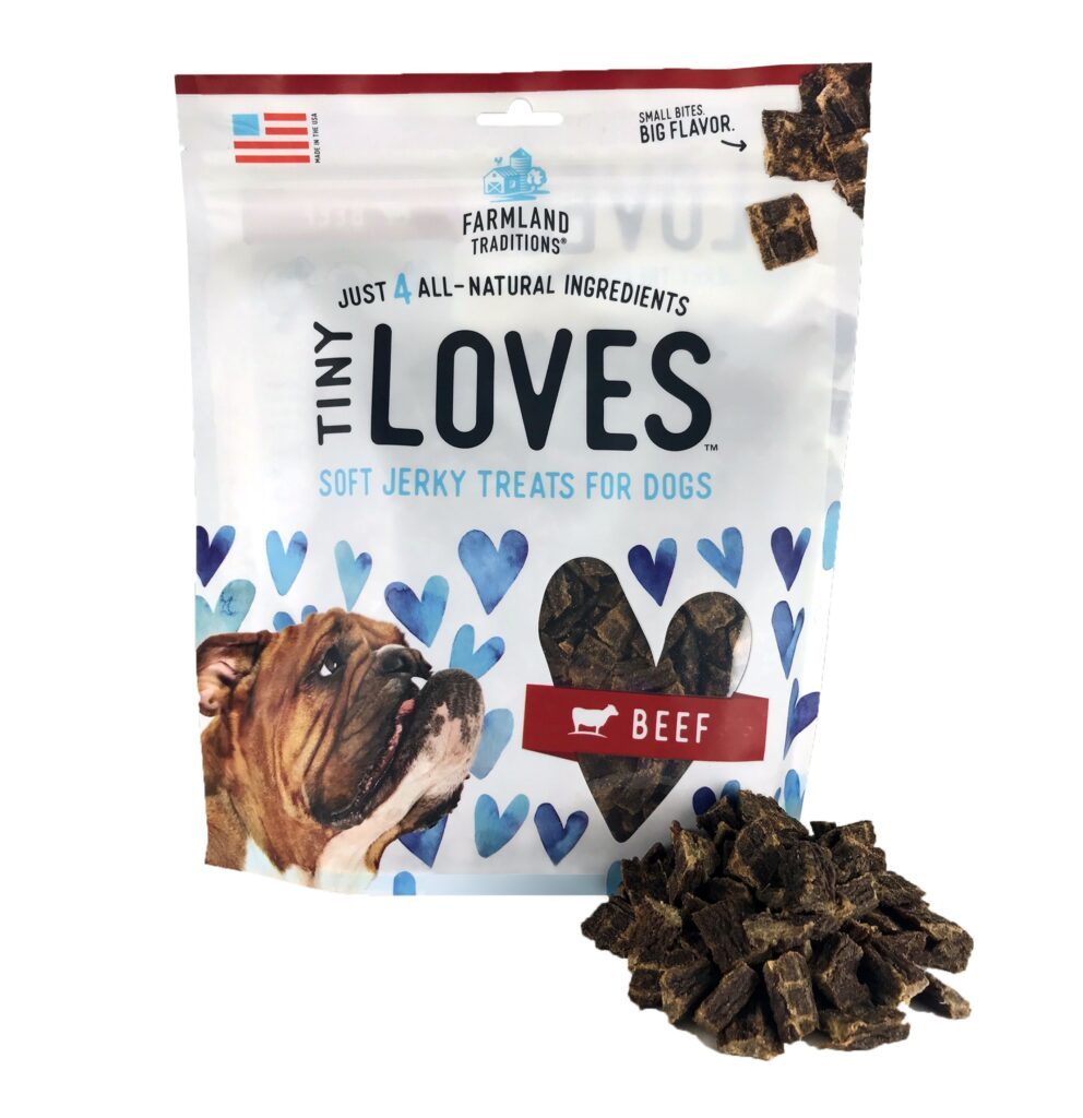 An image of Farmland Traditions - Tiny Loves Soft Jerky Treats For Dogs Beef - 12oz