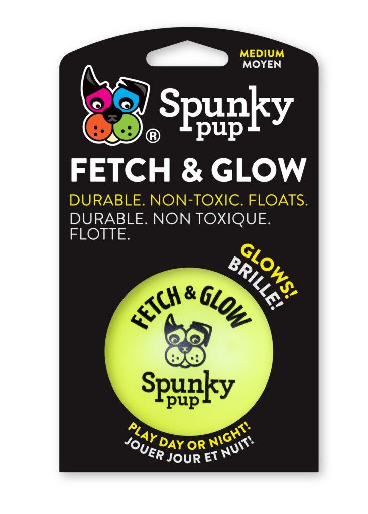 An image of Spunky Pup Dog Toys - Fetch & Glow Ball Medium