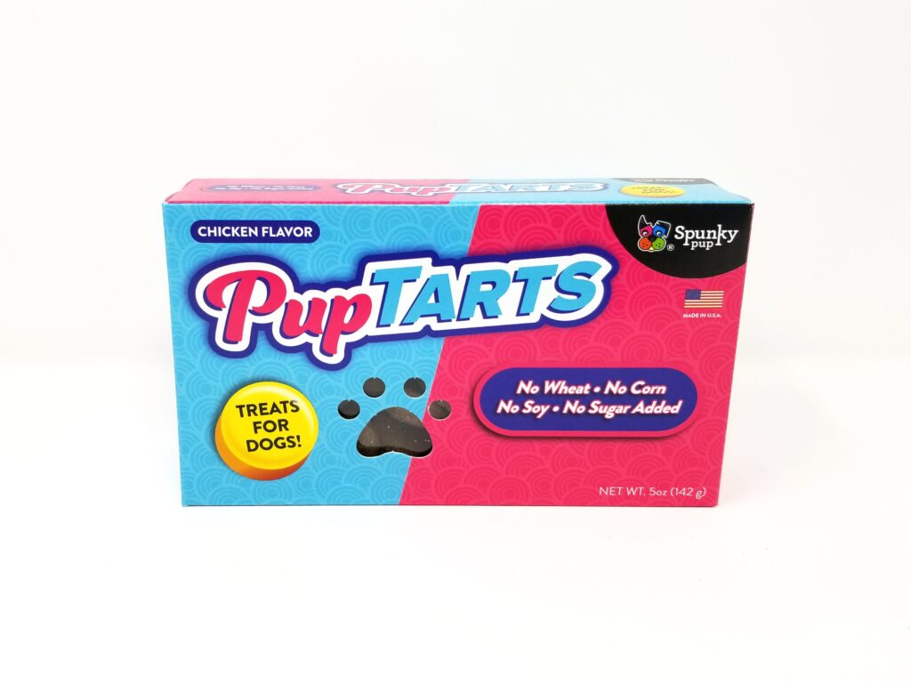 An image of Spunky Pup Dog Toys - PupTarts Dog Treats, Chicken Flavor - 5 oz
