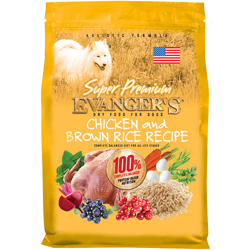 An image of Evangers Pet Food - Super Premium Chicken with Brown Rice Dry Dog Food - 16.5 lbs
