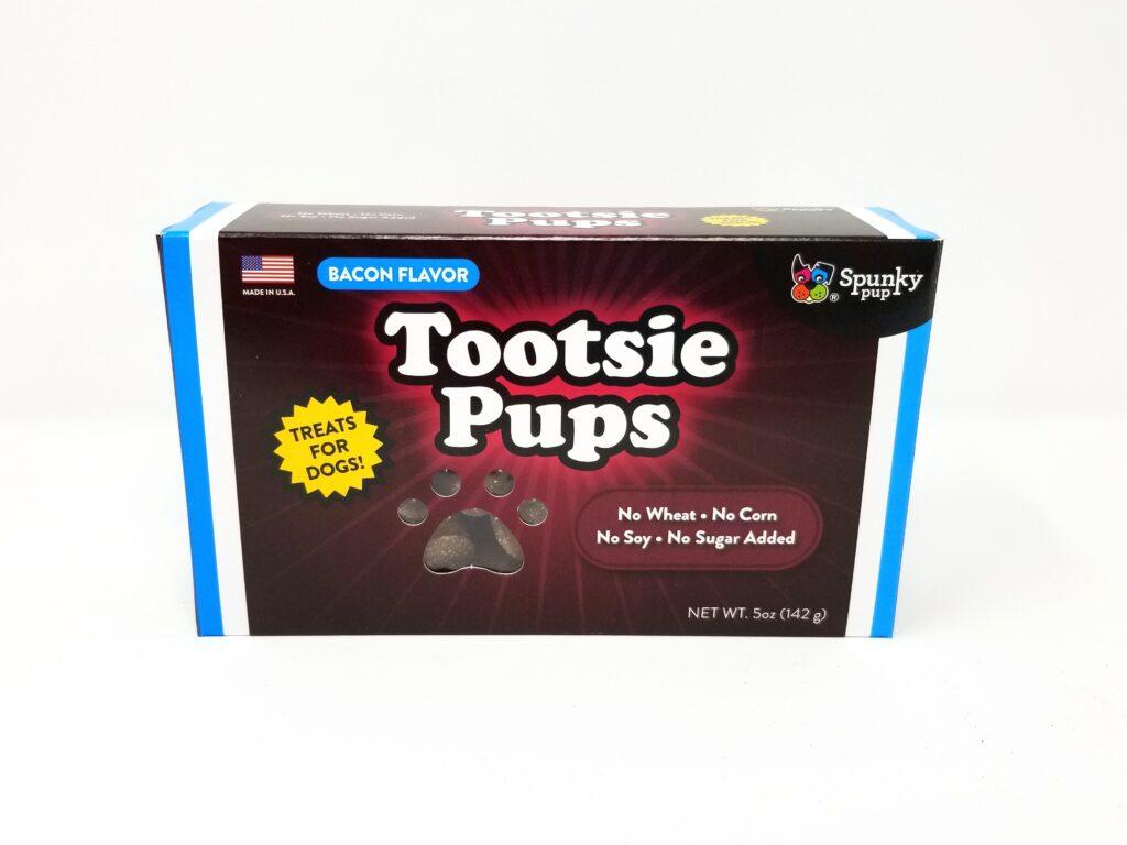 An image of Spunky Pup Dog Toys - Tootsie Pups Dog Treats, Bacon Flavor - 5 oz