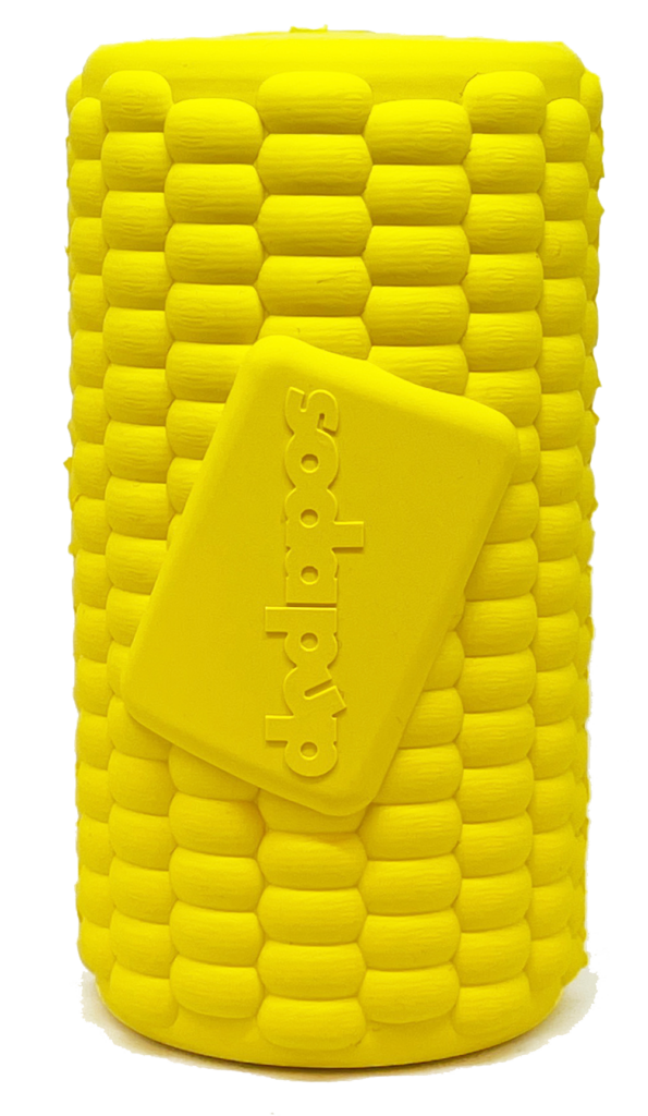 An image of SodaPup - True Dogs, LLC - SP Corn on the Cob - Large - Yellow