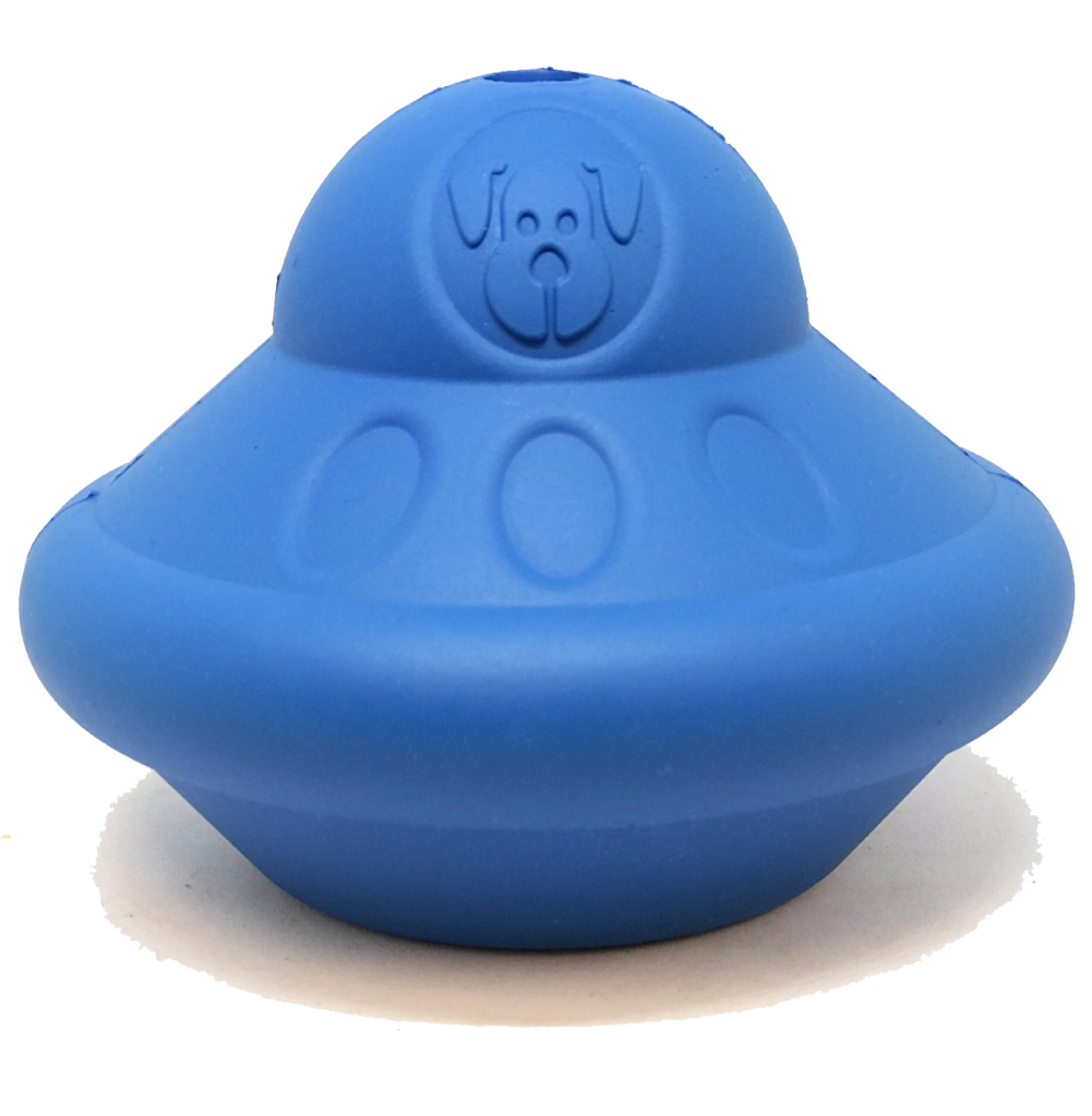 An image of SodaPup - True Dogs, LLC - SN Flying Saucer - Large - Blue