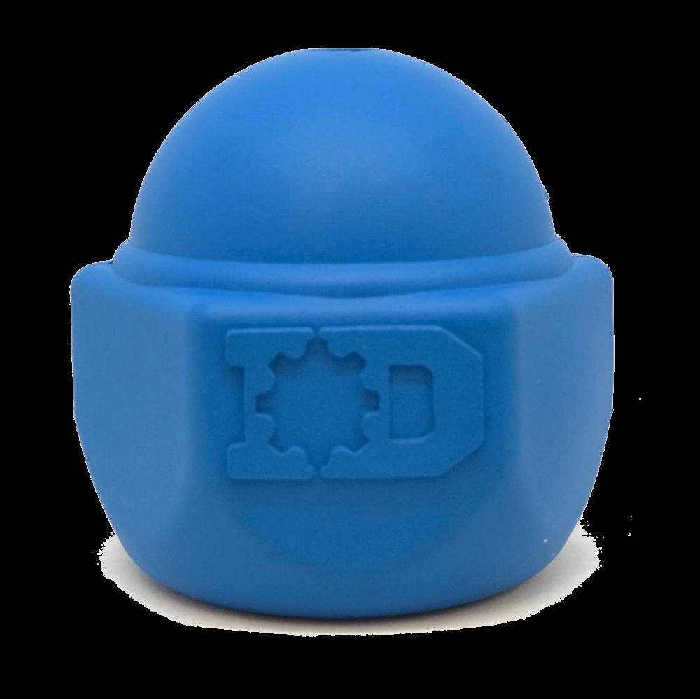 An image of SodaPup - True Dogs, LLC - ID Cap Nut Chew Toy - Blue