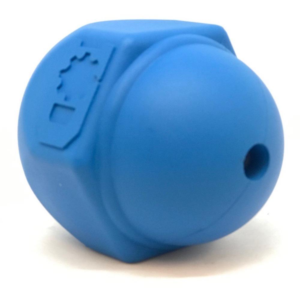 An image of SodaPup – True Dogs, LLC – ID Cap Nut Chew Toy – Blue